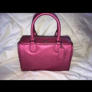 Coach Metallic Magenta Mini Bennett